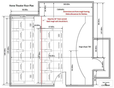 Home theatre floor plans   House design plans