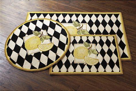 lemon kitchen rug lemon harlequin scatter rug traditional rugs by ballard designs