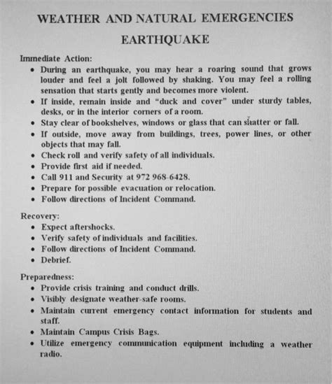 earthquake procedure irving schools plan drills after earthquake filled day