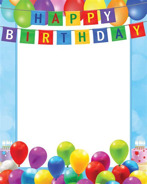 eyeglasses birthday card template happy birthday transparent png blue frame gallery
