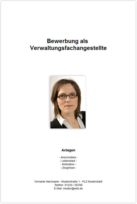 Bewerbung Verwaltungsfachangestellte Bewerbung 8 Bewerbungsschreiben Verwaltungsfachangestellte Deckblatt Bewerbung
