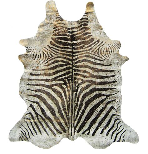 Large Animal Hide Rugs Metallic Zebra Print Hides Via Made By Made By
