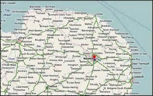 Norfolk England Map by Norfolk England Uk Genealogy