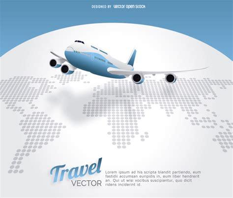 international flights vector free