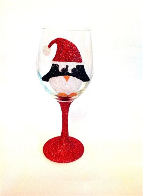 sparkle light christmas glasses 1000 images about glass painting ideas on painted wine glasses
