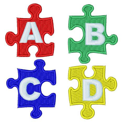 printable alphabet jigsaw occupational embroidery design jigsaw puzzle letters from
