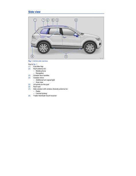 vehicle repair manual 2009 volkswagen touareg auto manual manual volkswagen vw touareg volkswagen vw touareg ii 2 owners manual page pdf
