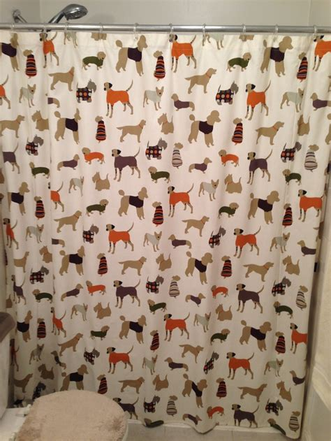 dog curtains chooty co dog shower curtain animals dog shower