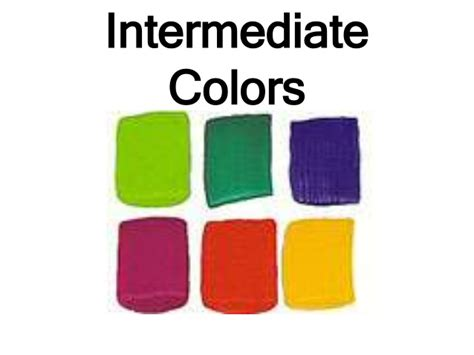 what are the colors intermediate color