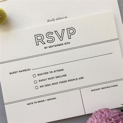 Wedding Invitations With Tear Response Card
