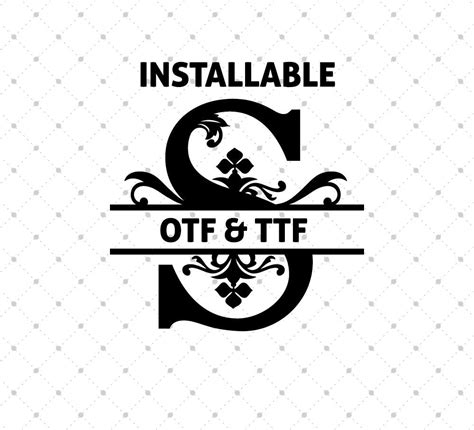 format file ttf installable regal split font otf and ttf format svg