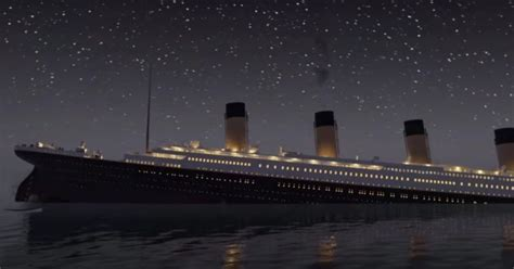 titanic boat real watch the titanic sink in real time in eerie animated