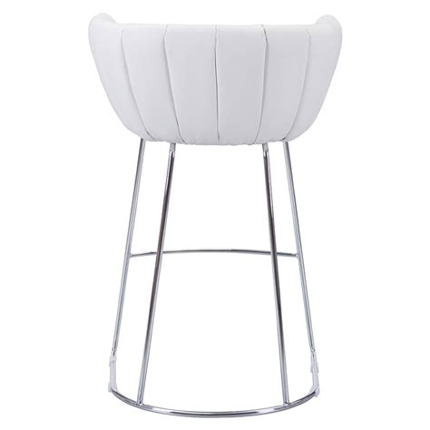 modern white bar modern bar stools leandra white bar stool eurway