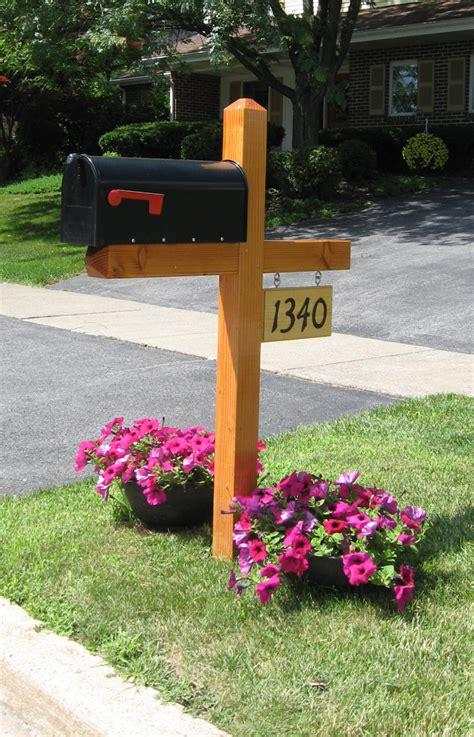 wood mailbox post design  woodworking