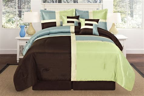 aqua blue and brown comforter sets luxurious quilted sage green aqua blue brown patchwork