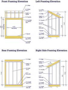 lean to shed plans free diy blueprints for a lean to shed
