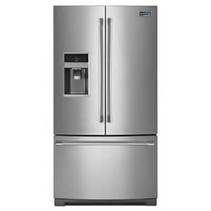maytag 25 cu ft 3 door refrigerator stainless