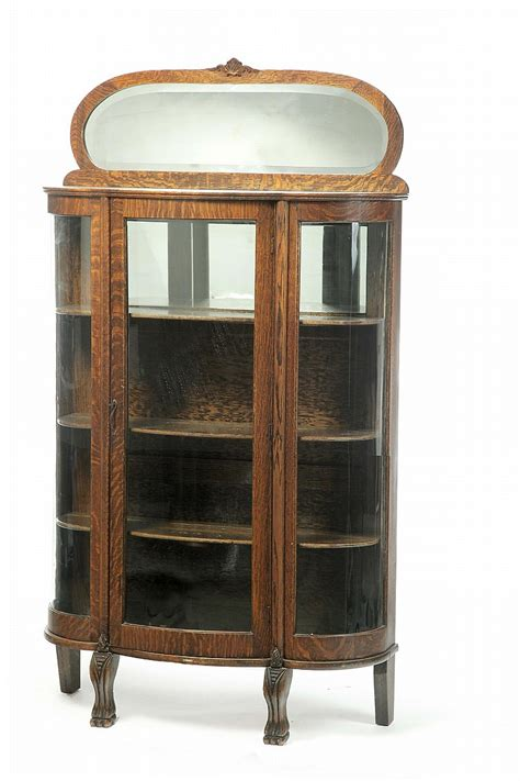 Golden Cabinet by Golden Oak Curved Glass China Cabinet