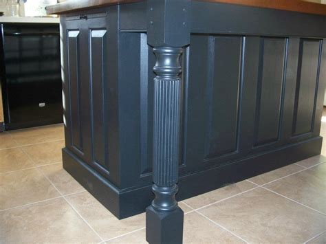kitchen island with posts island posts to fit three sided skirting for kitchen