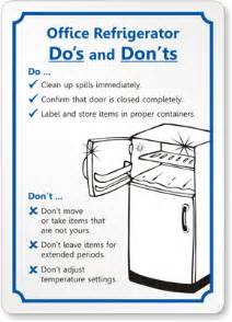 office refrigerator etiquette by mydoorsign