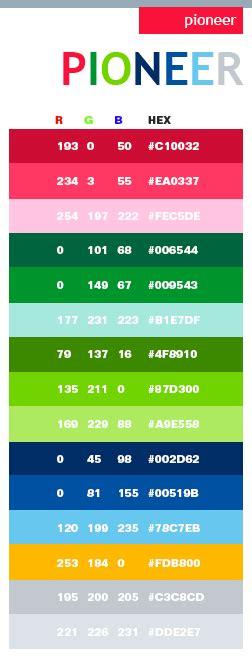 pioneer color schemes color combinations color palettes pioneer color schemes color combinations color palettes