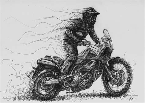 sketchbook grey paper 17 best images about yamaha tenere on an