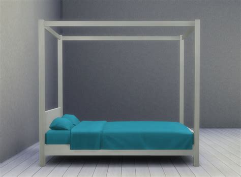 modern four poster bed mod the sims modern four poster bed