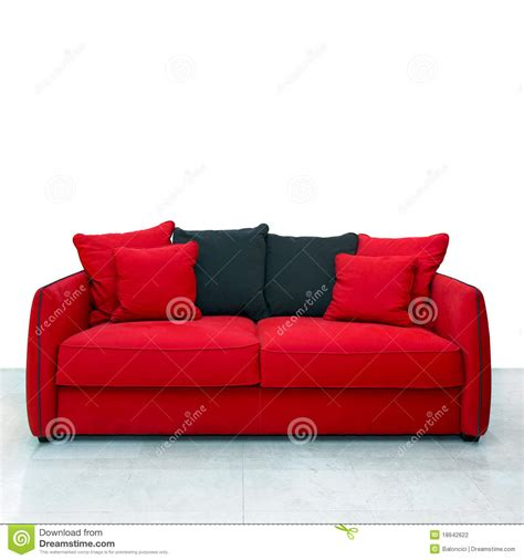 red couch photography red sofa stock photography image 18642622