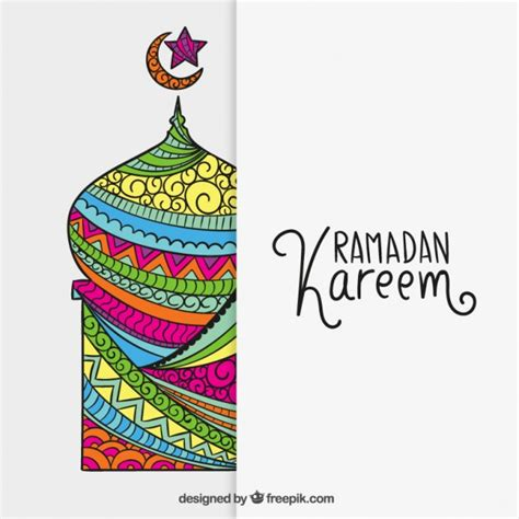 ramadan pattern vector free colorful mosque for ramadan kareem vector free download