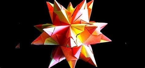 Great Origami - how to origami the great stellated dodecahedron 171 origami