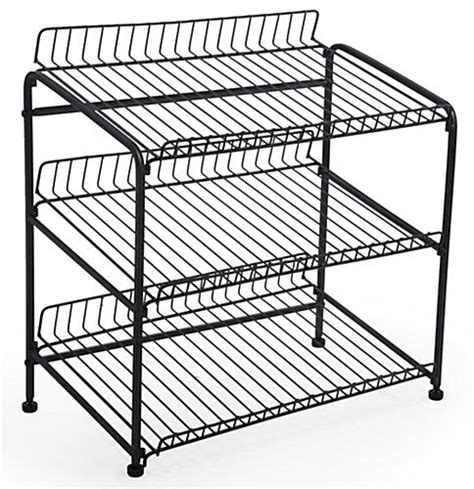 Countertop Display Racks by Wire Countertop Display Rack 3 Open Shelves Levelers For Stabili