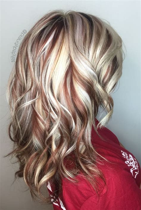hairstyles blonde with red highlights the 25 best red blonde highlights ideas on pinterest