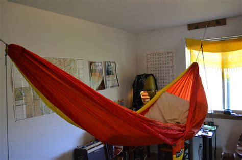 How To Set Up A Hammock Indoors hang your hammock indoors