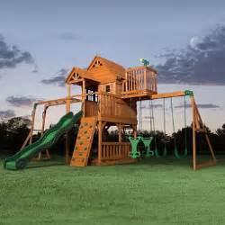 Backyard Discovery Rocket Slide Backyard Discovery Skyfort Ii Cedar Swing Set Play Set