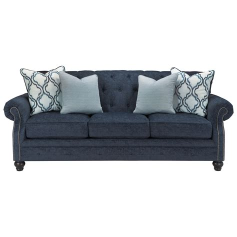 benchcraft sofas benchcraft lavernia 7130438 transitional sofa with tufted