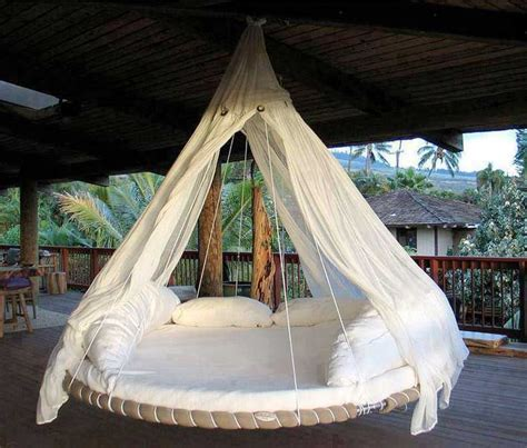 backyard bed turn an old troline into a bed swing in your own
