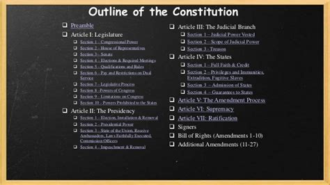 Outline Of Articles Of The Us Constitution by Constitution Interactive Blueprint