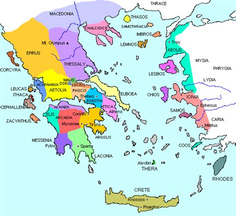 state city map ancient greece city states and ethnic groups maps