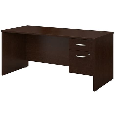 bush furniture series c 66 in office desk bush business series c 66 quot desk with 2 pedestals in mocha