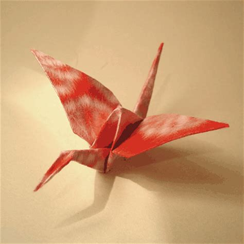 Peace Crane Origami - paper bird how to make a crane origami papermodeler