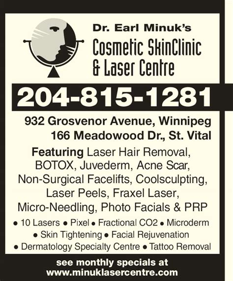 tattoo removal winnipeg dr earl minuk s cosmetic skinclinic laser centre
