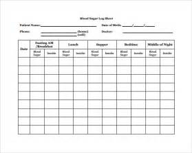 diabetes log template sle blood sugar log template 8 free documents in pdf