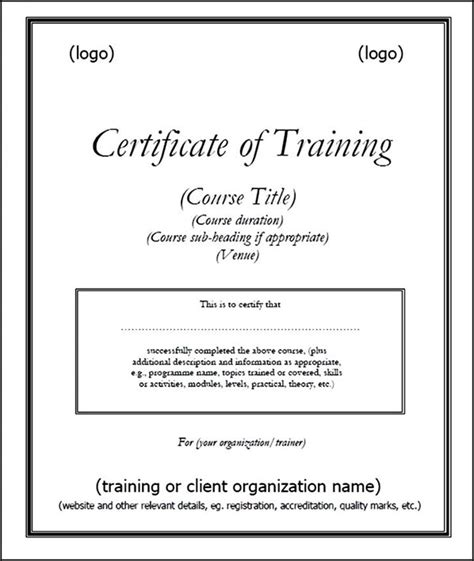 small certificate template printable certificate of template pdf sle