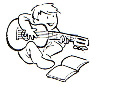 imagenes chistosas llaneras dibujo para colorear ni 241 o tocando la guitarra 01