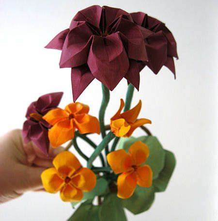Types Of Origami Flowers - different types of pretty origami flowers