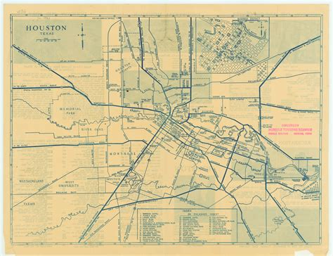 houston texas on a map antique map of houston from 1935 houston texas mappery
