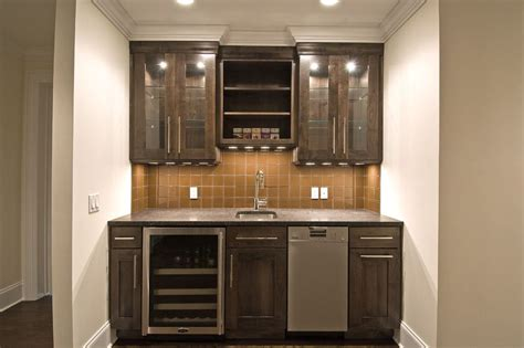 small basement kitchen ideas simple wet bar design with open shelving shaker style
