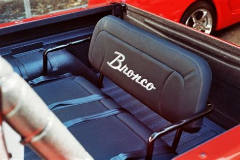 early bronco seats early bronco rear seat with embroidered lettering it