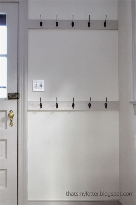 That S My Letter How To Install Mudroom Hooks Hooks For Rooms