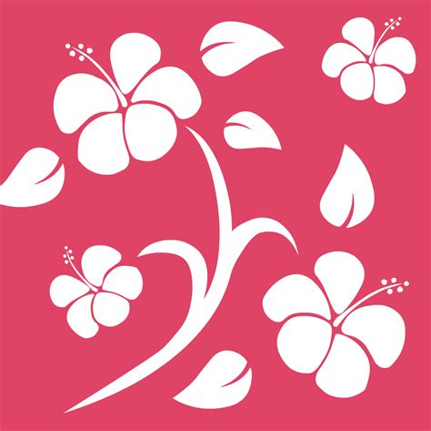 Hawaiian Flower Template Clipart Best Hawaiian Flower Template